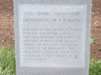1870s Cowboy-Indian Fight Marker image. Click for full size.