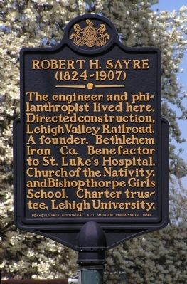 Robert H. Sayre Marker image. Click for full size.