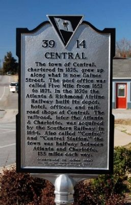 Central Marker - Front image. Click for full size.