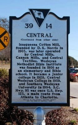 Central Marker Reverse image. Click for full size.