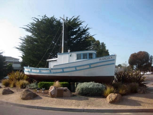 The <i>Francesca</i> and the Monterey&#39;s Commericial Fishing Fleet Marker image. Click for full size.