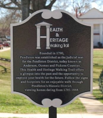 Health & Heritage Walking Trail Marker image. Click for full size.
