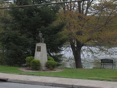 Marker at Garrison Pond Photo, Click for full size