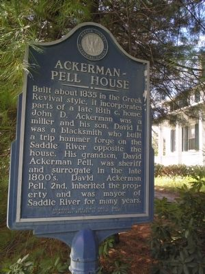 Ackerman – Pell House Marker image. Click for full size.