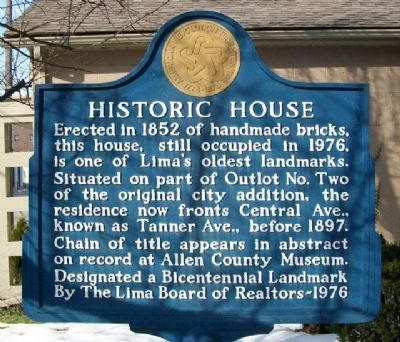 Historic House Marker image. Click for full size.