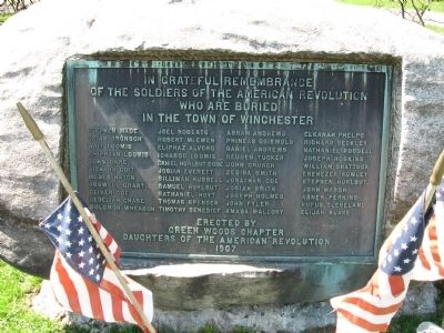 Winchester Revolutionary War Memorial image. Click for full size.