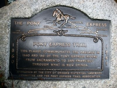 The Pony Express Marker image. Click for full size.