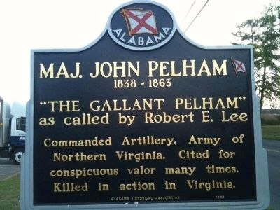 Maj. John Pelham Marker Photo, Click for full size
