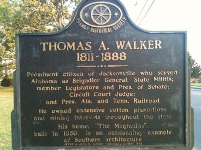 Thomas A. Walker Marker image. Click for full size.