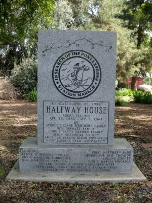 Halfway House Marker (Obverse) image. Click for full size.