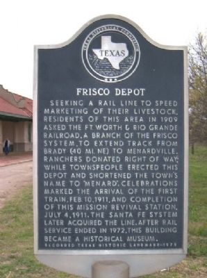 Frisco Depot Marker image. Click for full size.