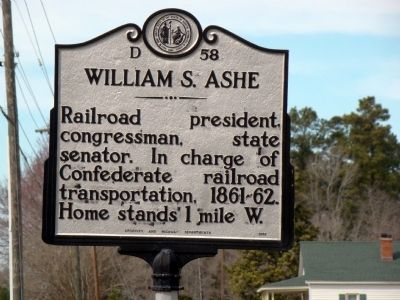 William S. Ashe Marker image. Click for full size.