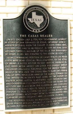 The Casas Reales Marker image. Click for full size.