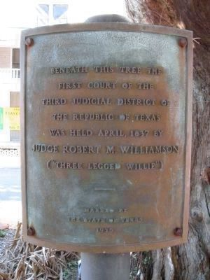 Another Marker, District Court Tree image. Click for full size.