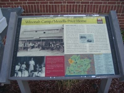 Winonah Camp / Mozella Price Home Marker image. Click for full size.