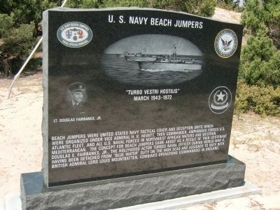 U.S. Navy Beach Jumpers - Amphibious Forces, U.S. Navy Monument Marker Photo, Click for full size