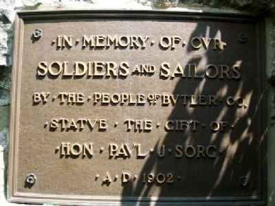 Butler County Civil War Memorial Marker image. Click for full size.