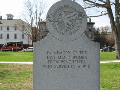 Winchester World War II Memorial image. Click for full size.