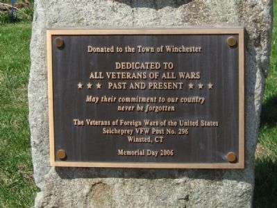 Winchester VFW Monument Marker image. Click for full size.