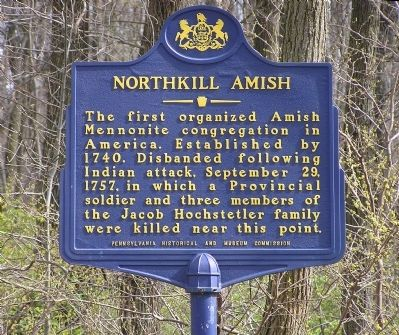 Northkill Amish Marker image. Click for full size.