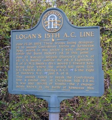 Logan's 15th A.C. Line Marker image. Click for full size.