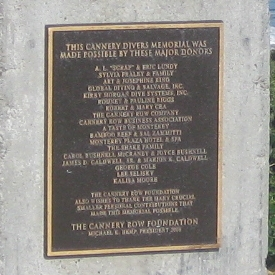 Cannery Divers Memorial - Donor Plaque