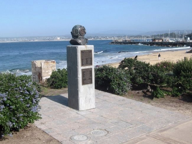 Cannery Divers Memorial Marker - wide view Photo, Click for full size