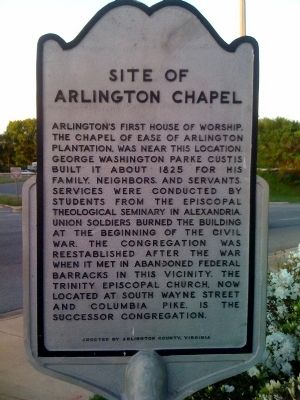 Site of Arlington Chapel Marker Photo, Click for full size