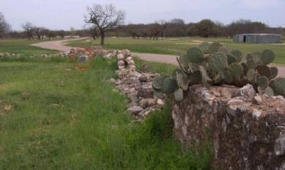 Presidio de San Saba marker at south east corner of ruins. image. Click for full size.