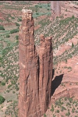 Spider Rock, found in nearby Canyon de Chelly image. Click for full size.