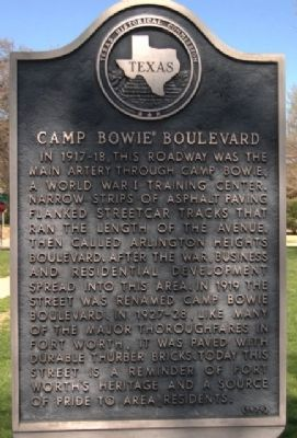 Camp Bowie Boulevard Marker image. Click for full size.
