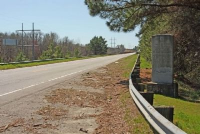 John M. Bates Bridge Marker, looking south along US 601 image. Click for full size.