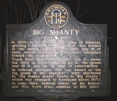 Big Shanty Marker Photo, Click for full size