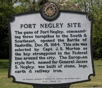 Fort Negley Site Marker image. Click for full size.