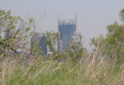 Part of the Nashville Skyline from the Interior of Fort Negley image. Click for full size.