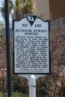 Blossom Street School Marker image. Click for full size.