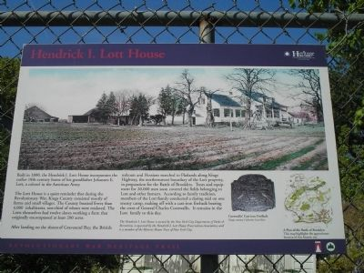 Hendrick I. Lott House Marker Photo, Click for full size