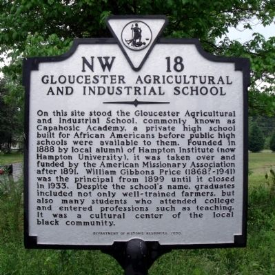 Gloucester Agricultural and Industrial School Marker image. Click for full size.