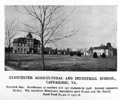 Gloucester Agricultural and Industrial School image. Click for full size.