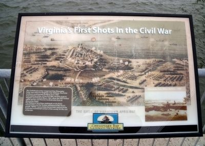 Virginia's First Shots in the Civil War Marker image. Click for full size.