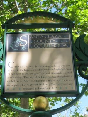 Santa Clara County Courthouse Marker image. Click for full size.