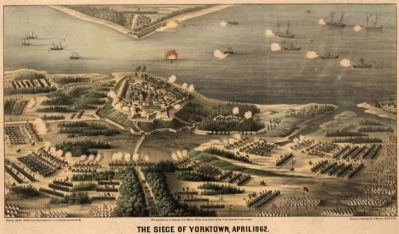 The siege of Yorktown, April 1862 image. Click for full size.