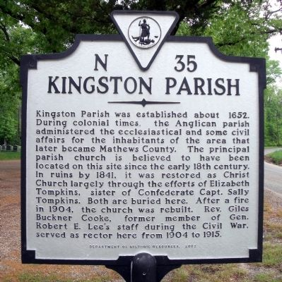 Kingston Parish Marker Photo, Click for full size