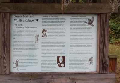 Santee National Wildlife Refuge Marker Photo, Click for full size