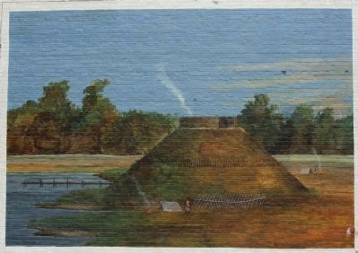 Fort Watson , Santee Indian Mound Mural concept Photo, Click for full size