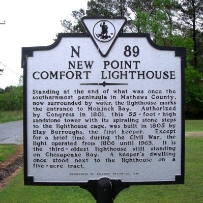 New Point Comfort Lighthouse Marker Photo, Click for full size