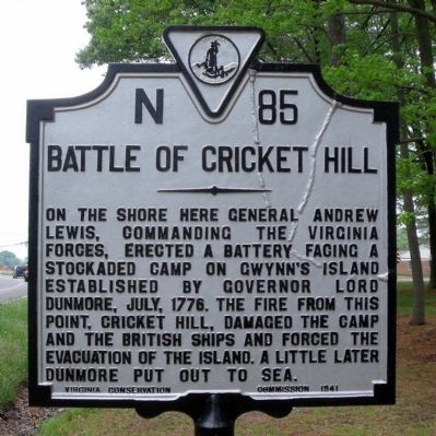Battle of Cricket Hill Marker image. Click for full size.