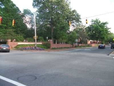 Elon University Marker at Intersection image. Click for full size.