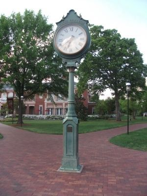The Clock in Front of Belk Library image. Click for full size.