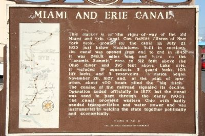Miami and Erie Canal Marker Photo, Click for full size